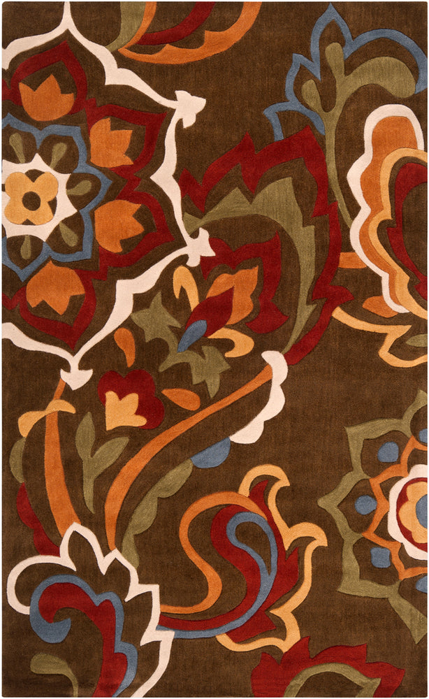 Surya Cosmopolitan COS9056 Brown/Red Contemporary Area Rug