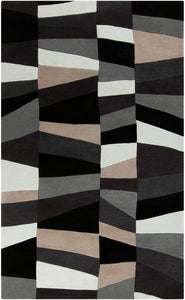 Surya Cosmopolitan COS9188 Grey/Black Geometric Area Rug