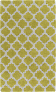 Surya Cosmopolitan COS9240 Green/Grey Geometric Area Rug