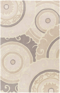 Surya Cosmopolitan COS9269 Neutral/Grey Medallion Area Rug