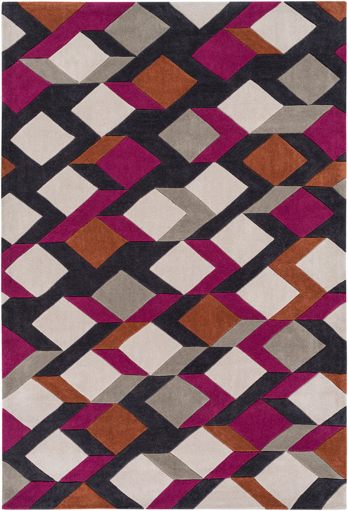 Surya Cosmopolitan COS9282 Pink/Orange Geometric Area Rug