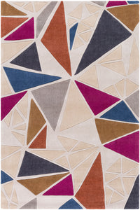 Surya Cosmopolitan COS9297 Neutral/Grey Geometric Area Rug