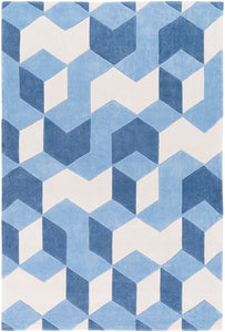 Surya Cosmopolitan COS9300 Blue/Brown Geometric Area Rug