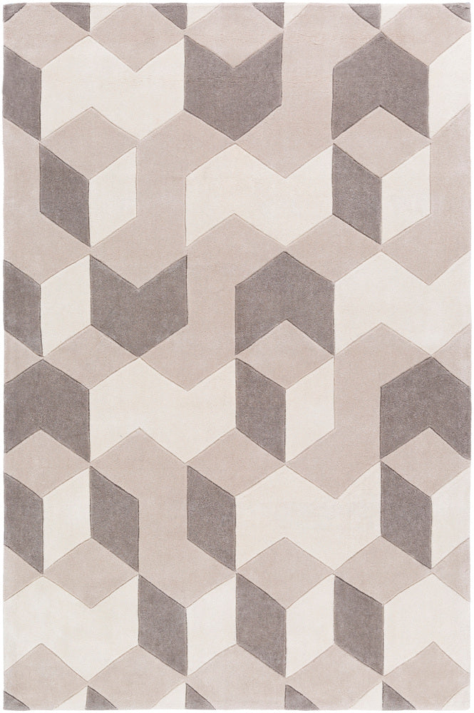 Surya Cosmopolitan COS9301 Neutral/Brown Geometric Area Rug