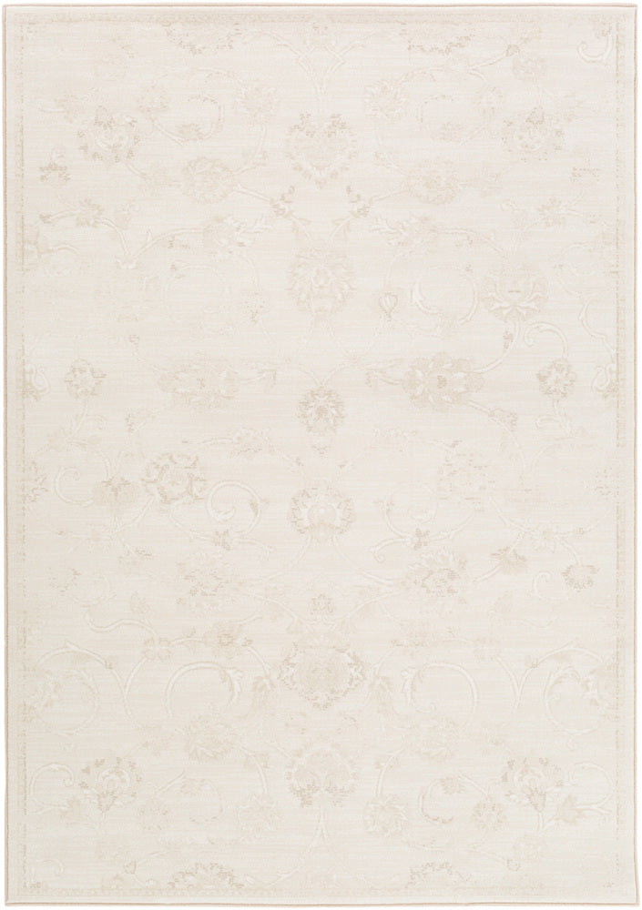 Surya Contempo CPO3720 Neutral/White Floral and Paisley Area Rug