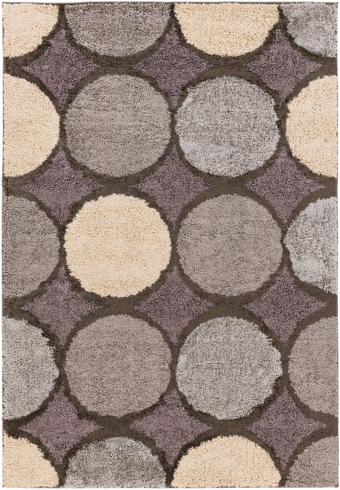 Surya Concepts CPT1737 Brown/Neutral Geometric Area Rug