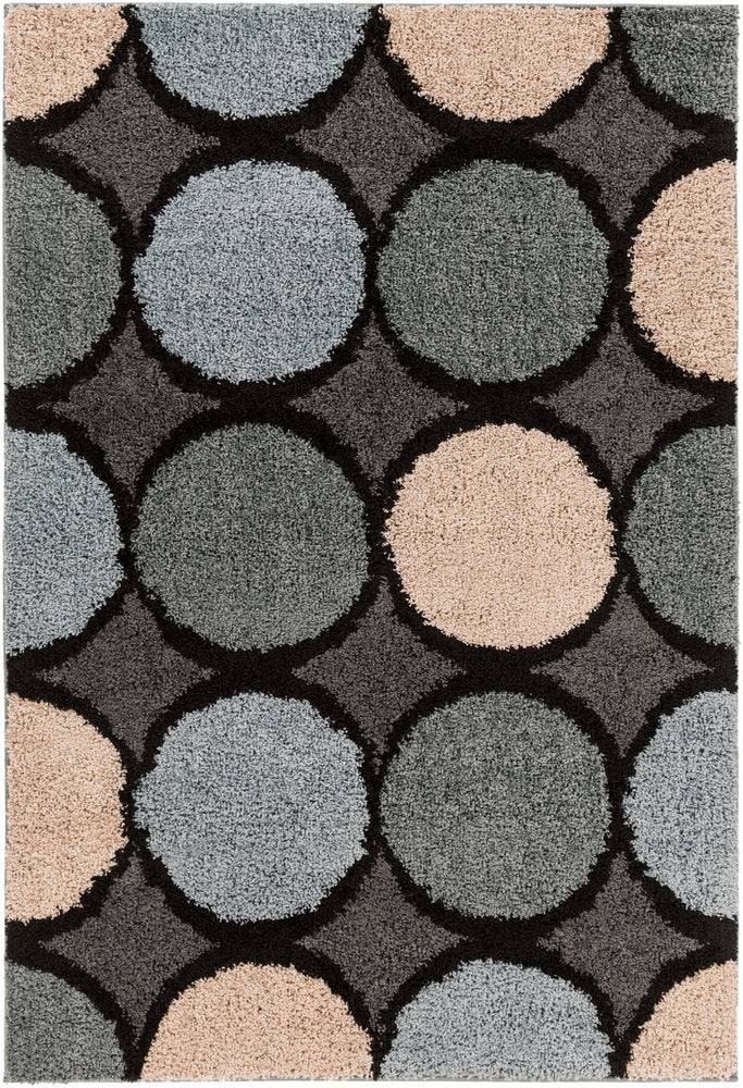 Surya Concepts CPT1738 Black/Gray Geometric Area Rug