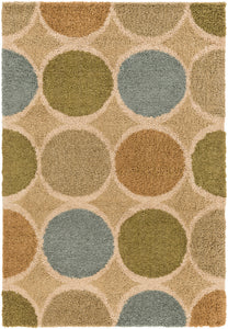 Surya Concepts CPT1739 Neutral/Green Geometric Area Rug