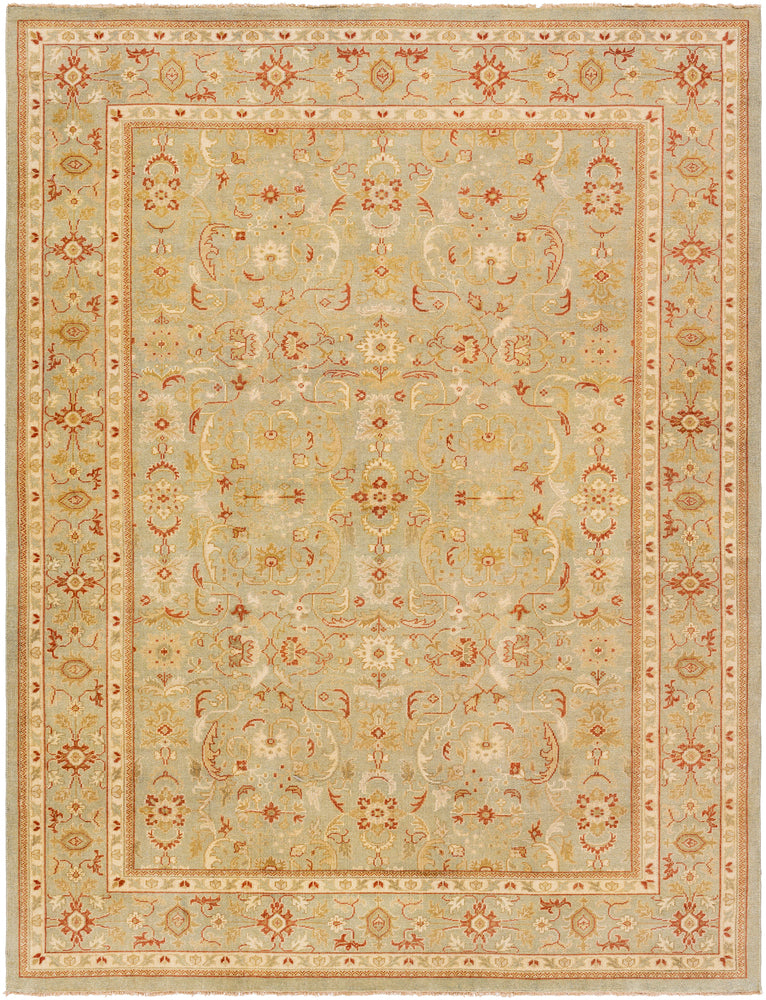 Surya Castle CSL6003 Green/Brown Classic Area Rug