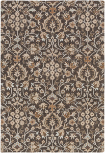 Surya Castille CTL2004 Black/Brown Traditional Area Rug