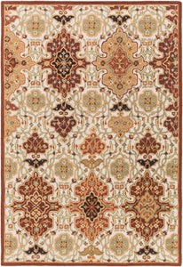 Surya Castille CTL2005 Red/Brown Traditional Area Rug