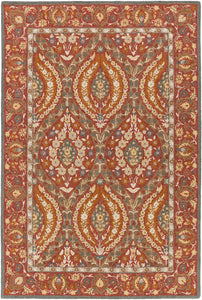 Surya Castille CTL2010 Red/Green Traditional Area Rug