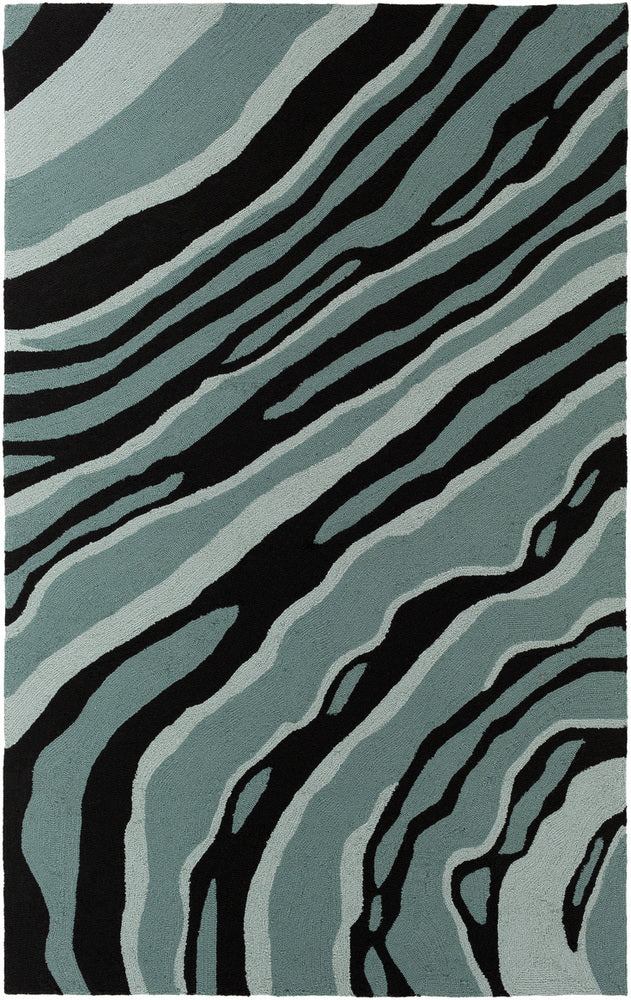 Surya Courtyard CTY4047 Blue/Black Modern Area Rug