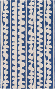 Surya Decorativa DCR4030 Blue/Neutral Modern Area Rug