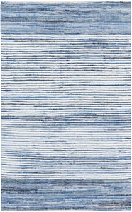 Surya Denim DNM1001 Blue Natural Fiber and Texture Area Rug