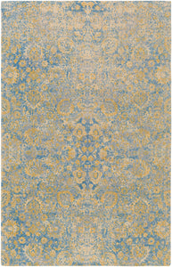 Surya Edith EDT1021 Neutral/Blue Classic Area Rug