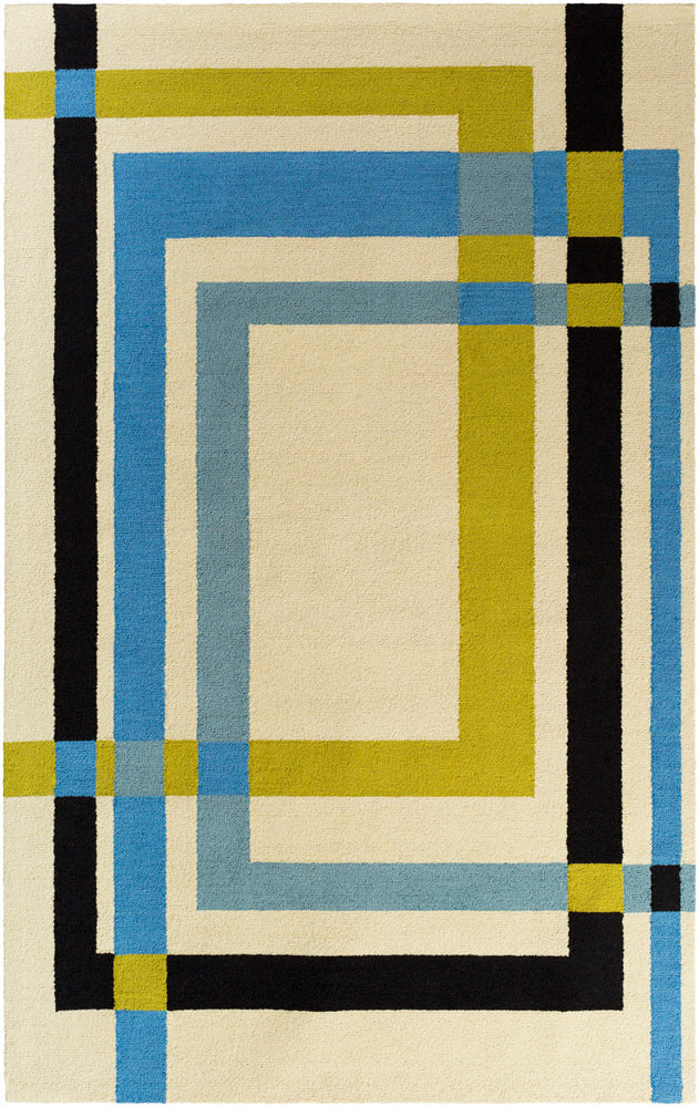 Surya Kismet EGK1018 Neutral/Black Geometric Area Rug