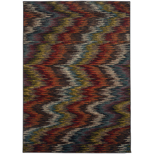 Oriental Weavers Emerson Multi/Black Abstract 4776A Area Rug
