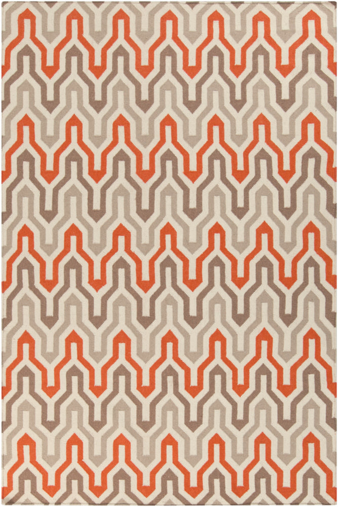 Surya Fallon FAL1103 Orange/Brown Flatweave Geometric Area Rug