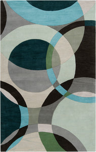 Surya Forum FM7157 Green/Neutral Contemporary Area Rug