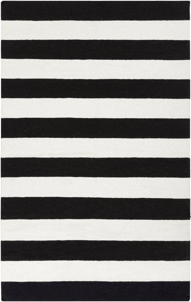 Surya Frontier FT295 White/Black Flatweave Area Rug