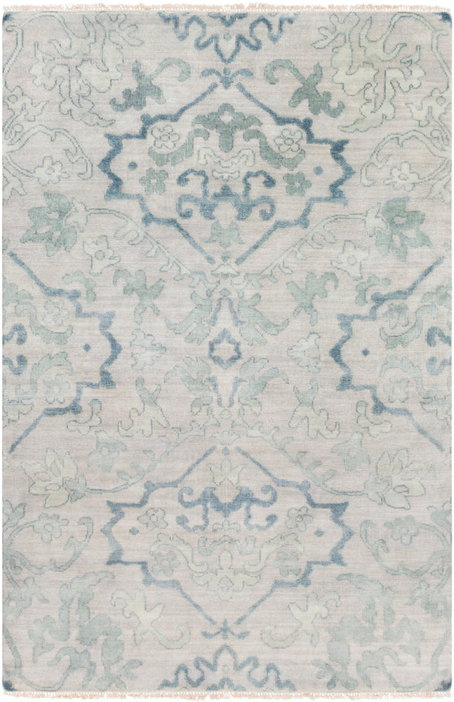 Surya Hillcrest HIL9036 Blue/Green Classic Area Rug