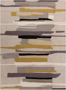 Surya Harlequin HQL8022 Grey/Neutral Modern Area Rug