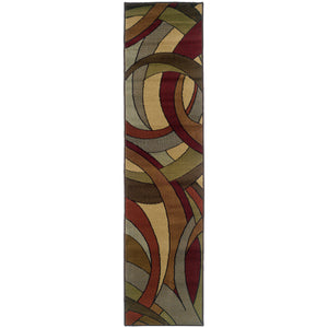 Oriental Weavers Huntington Beige/Blue Abstract 1982A Area Rug
