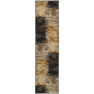 Oriental Weavers Kasbah Blue/Ivory Abstract 3859D Area Rug