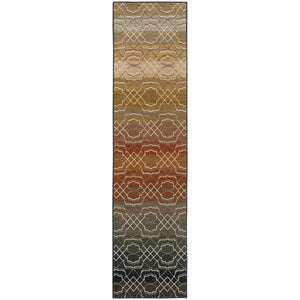 Oriental Weavers Kasbah Grey/Multi Geometric 3945B Area Rug