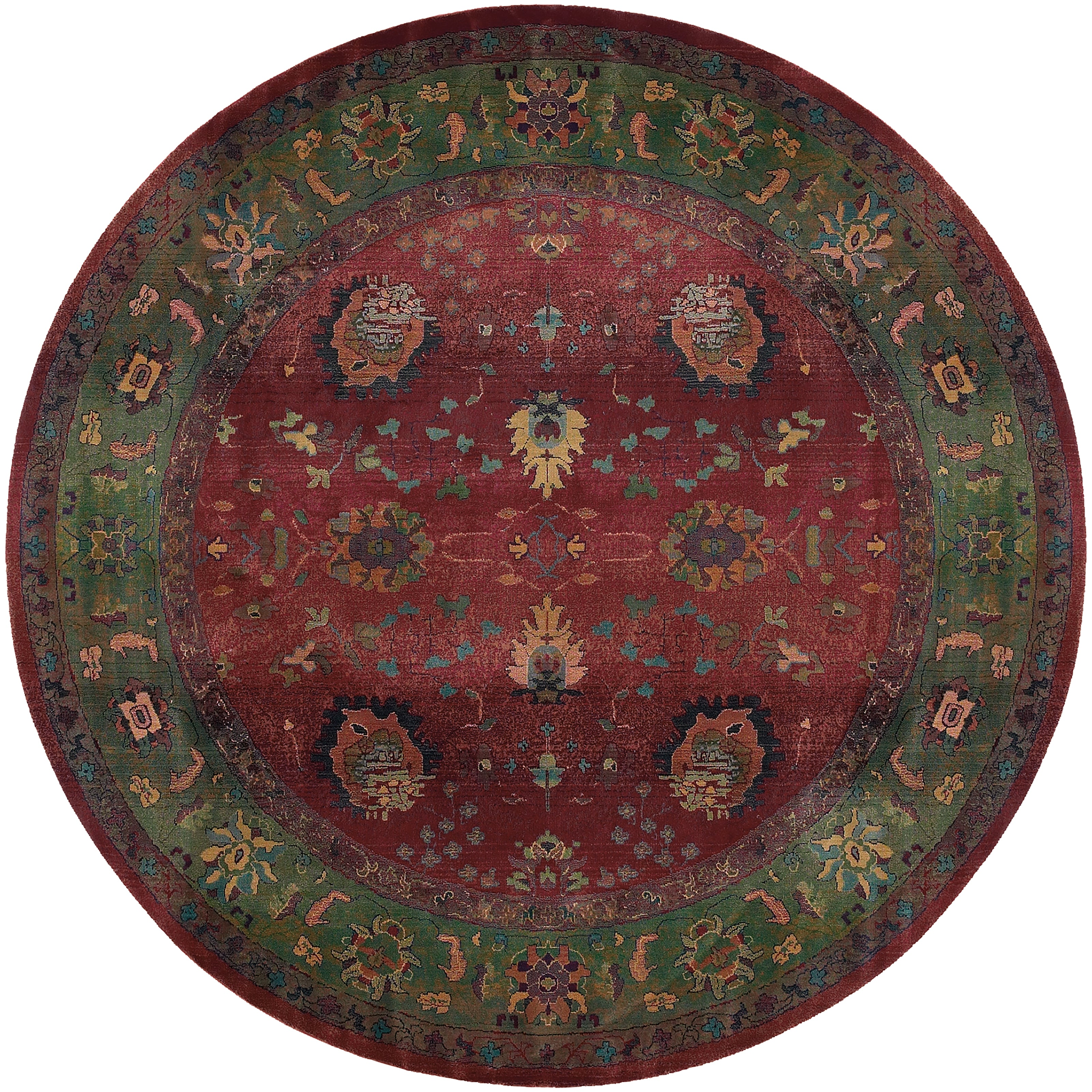 Oriental Weavers Kharma Red/Green Floral 807C4 Area Rug