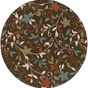 Oriental Weavers Montego Brown/Green Floral 967X6 Area Rug