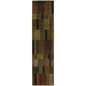 Oriental Weavers Parker Brown/Green Geometric 5589A Area Rug