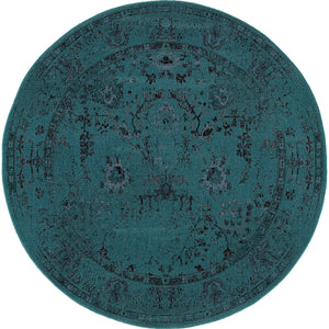 Oriental Weavers Revival Teal/Grey Oriental 550H2 Area Rug