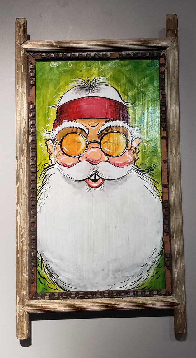 """Hippie Santa"" by William Flint"