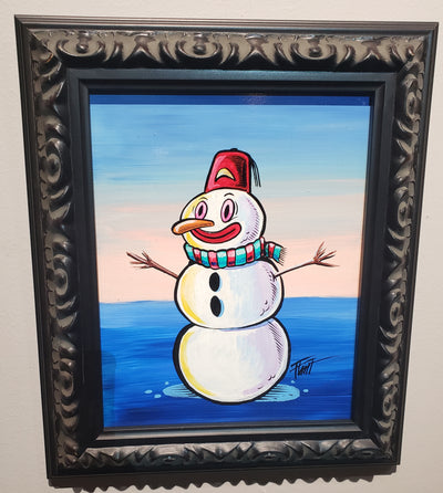 """Cool Snowman"" by William Flint"