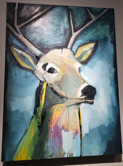 """Deer On Blue"" by Scott Dykema"