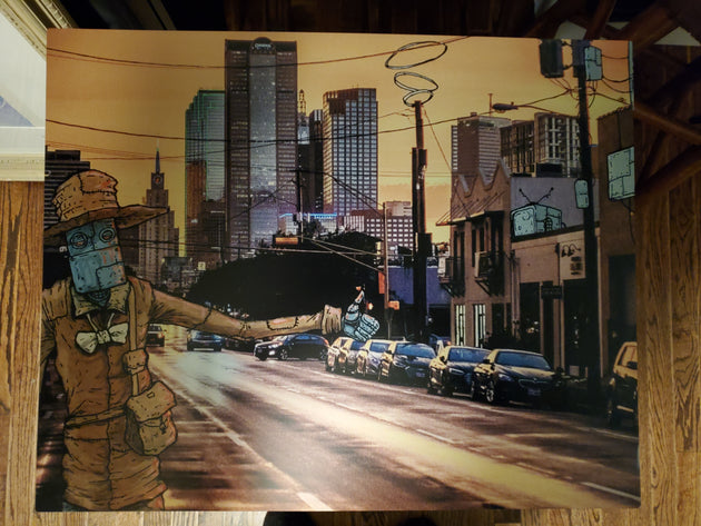 """Leaving Deep Ellum"" by Andrew Sherman & Chase Fleischman $150"
