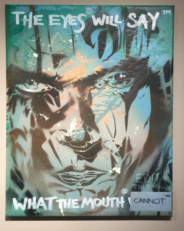 """The eyes will say what the mouth cannot"" by Jerod ""DTOX"" Davies $220"