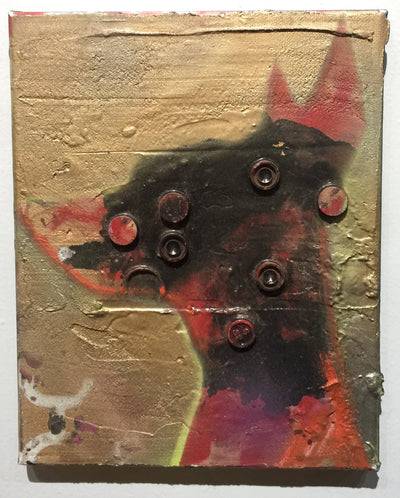"""Pooch on Gold 2"" by Scott Dykema  $120"