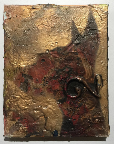 """Pooch on Gold 6"" by Scott Dykema  $120"