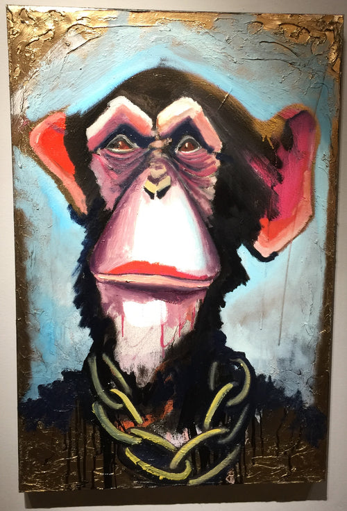 """Ambiguous Chimp"" by Scott Dykema  $900"