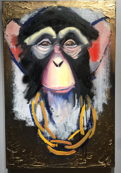 """A Trusting Chimp"" by Scott Dykema  $900"