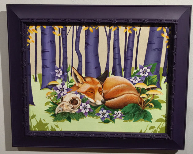 """Sleeping Fox"" by Sarah Curl-Larson  $175"