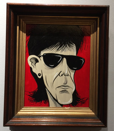 """Ric Ocasek"" by William ""Bubba"" Flint  $130"