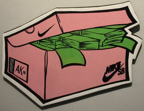 """MOTFK SnkrMoney Box PINK SB Nike"" by Raphael Crump"