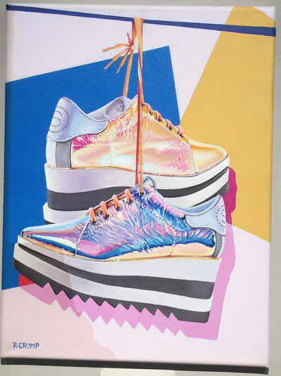 """MOTFK Prada Metallic Platforms"" by Raphael Crump"