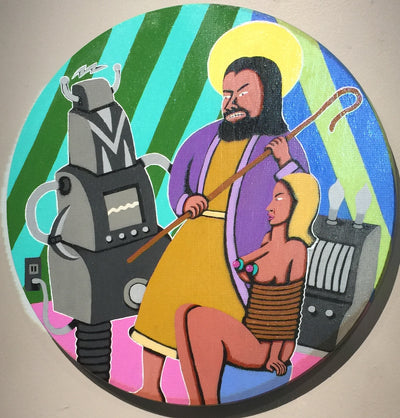 """Jesus vs. Bad Robot"" by Steve Cruz"
