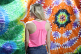 Art Co Scrunched Tank | Pink