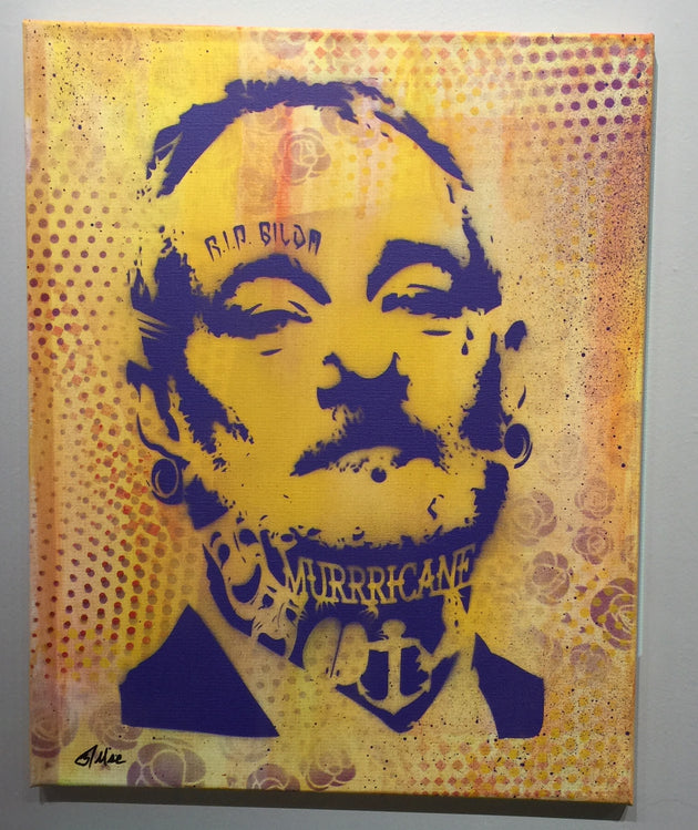 """Bill Murray #2"" by Canvas Vandal  $75"